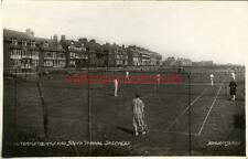 REAL PHOTOGRAPHIC POSTCARD TENNIS COURTS, SKEGNESS, LINCOLNSHIRE BY DONLION