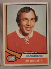 1974 Topps Jim Roberts Montreal Canadiens #78 Hockey Card ex