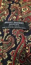 "Vintage, Brooks Brothers Makers, Multi-color, Paisley, Silk, Neck Tie (62"")"