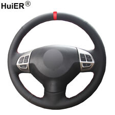 For Mitsubishi Lancer X 10 Outlander ASX Hand Sewing Car Steering Wheel Cover