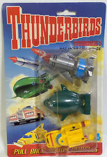 THUNDERBIRDS : THUNDEBIRD 1,2 & 4 PULL BACK MODELS MADE BY MATCHBOX IN 1992 (F)