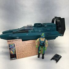 Vintage 1984 GI JOE Copperhead Figure & Cobra Water Moccasin, ARAH, Hasbro