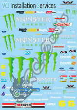 1/10 Touring Car Decal Sticker Set V8 - Energy Racing Team  - Xray Schumacher