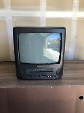"Sansui TV VCR VHS Tape Player Combo CRT 13.5"" COM312AD Retro Gaming"