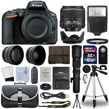 Nikon D5500 DSLR Camera + 4 Lens 18-55mm VR II + 500mm + 16GB Telephoto Kit