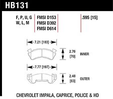 Hawk Performance HB131P.595 Superior High Temp. Rotor/Pad Wear Performance Disc