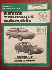 Revue Technique RENAULT 21 Diesel et Turbo D 2068cm3 Berline Nevada