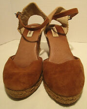 Womens Dune Wedge Shoes Size 5 (38) Brown Used Very Good Condition Suede