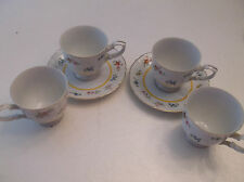 LOT OF 6 COUTURE COLLECTION BY MIKASA HERITAGE AVONDALE COFFEE CUPS W/SAUCERS