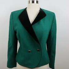 Vintage Pendleton Womens Wool LS One Button Green Blazer Jacket 10P Made in USA