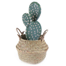 Storage Basket Rattan Straw Basket Wicker Folding Flower  Pot Flower Basket EF