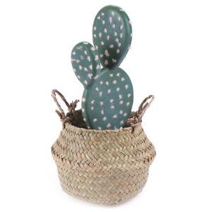 Storage Basket Rattan Straw Basket Wicker Folding Flower  Pot Flower Baske i&qi