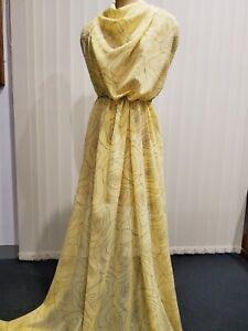 Italian Pure Silk Flock Printed Georgette, Exclusive designer fabric. 2 meters.