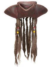 Cappello Tricorno Pirata Con Treccine Rasta Carnevale Pirati PS 10152