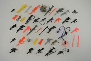 G.I. Joe Lot of Approx. 45 Retro Action Figure Accessories Mostly Weapons VG!