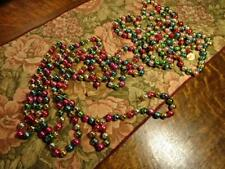 VINTAGE ANTIQUE MERCURY GLASS CHRISTMAS TREE GARLAND OVER 5 YARDS