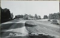 Nashville, IN 1940s Realphoto Postcard: Abe Martin Lodge-Brown County State Park