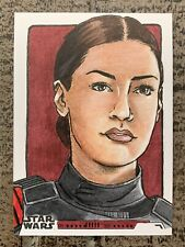 2019 Star Wars IDEN VERSIO 1/1 Sketch - By Ashlee Brienzo