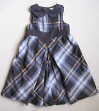 Janie & Jack PRIMA BALLERINA Girls 3T Blue Plaid Silk-Blend Party Dress EUC
