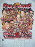 Vintage Chicago Bulls Champions Pro Player Caricature T Shirt Reprint DD111