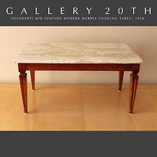 MID CENTURY MARBLE COCKTAIL TABLE! Vtg Designer Modern Gibbings Era Eames 50's