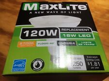 Maxlite LED Bombilla inundación al aire libre, 120 vatios resistente a la intemperie!!!