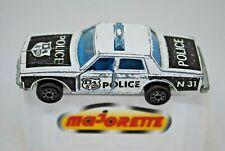 MAJORETTE CHEVROLET IMPALA US POLICE Car w/ Opening Doors & Light BLUE Glass