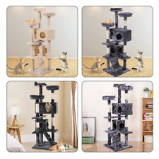 """60"""" Scratching Post Cat Tree House Condo Tower Play Kitty Climbing Furniture Pet"""