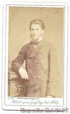 ANTIQUE Photograph CdV Russian revolution man beard St Petersburg Jewish studio