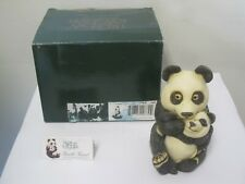 Harmony Kingdom Gentle Giant Panda Tjlemo 2000 Signed Limited Ed Zookeepers