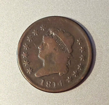 1814 US Classic Head Large Cent Coin  -  C 8745