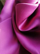 Pure Silk Crepe Backed Satin Charmeuse Mulberry WINE by the metre 138 cm wide