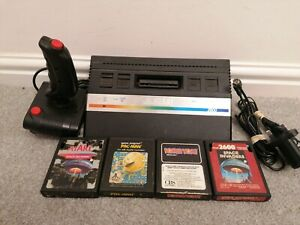 Atari 2600 console with games