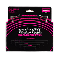 Ernie Ball Flat Ribbon Patch Cables, Pedal Board Multi-Pack, Black