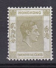 LM51) Hong Kong 1938 30 Yellow Olive, perf 14 SG 151