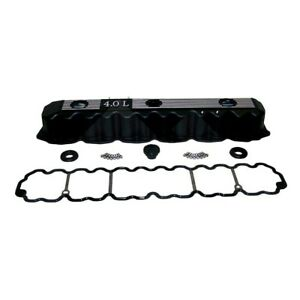 Black Engine Aluminum Valve Cover Kit for Jeep 1993-2004 4.0L 53020323-ALB
