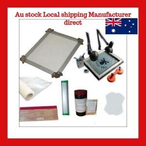 Self tensioning Screen Printing Frame Stretcher Exposure Unit Kit