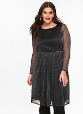 Evans Silver Mesh Dress Size Uk 18 rrp £ 45 LS082 LL 13