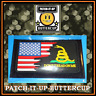 👀DON'T TREAD ON ME FLAG - PVC HOOK & LOOP PATCH + BACKING - BRAND NEW SHIPS USA