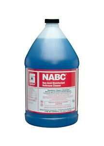 Spartan NABC Bathroom Cleaner, Non-Acid Disinfectant, Gallons, 4/Case