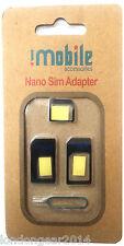 ORIGINALE imobile 4 in 1 Nano a Micro e STANDARD SIM CARD CONVERTITORE ADATTATORE NERO