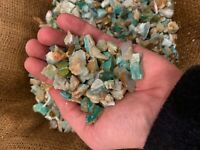 1000 Carat Lots of SMALL Blue Opal Rough - Plus a FREE Faceted Gemstone