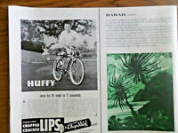 1959 Huffy Bicycle Ad The Huffy Fury  Zero to 15 mph in 7 Seconds