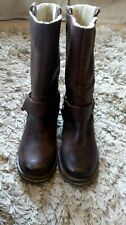 Fat Face Ladies Brown Leather Boots Size EUR 38