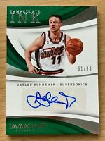 2017-18 Panini Immaculate Ink Detlef Schrempf Autograph Serial# 61/99