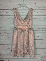 Liza Luxe ModCloth Women's S Small Pink Floral Spring Summer Cute Party Dress