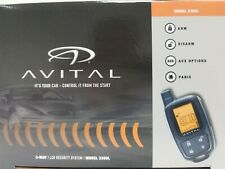 Avital 3305L 2-Way Car Security System Alarm Remote Keyless Entry Lcd Control