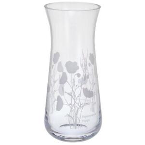Dartington Bloom Vase Poppy Hand Made Glass Small 18cm Tall 9cm Diameter Boxed