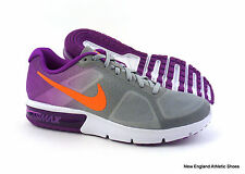 Nike womens Air Max Sequent running shoes sneakers size 7.5 - Wolf Grey / Purple