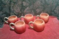 Vintage Four's  Gifts Set Of 5 Stoneware Apple Coffee Mugs